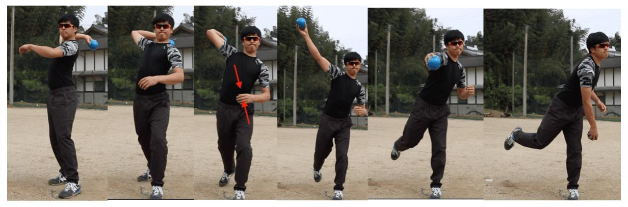 野球肩 シングルプレーンにするドリル
