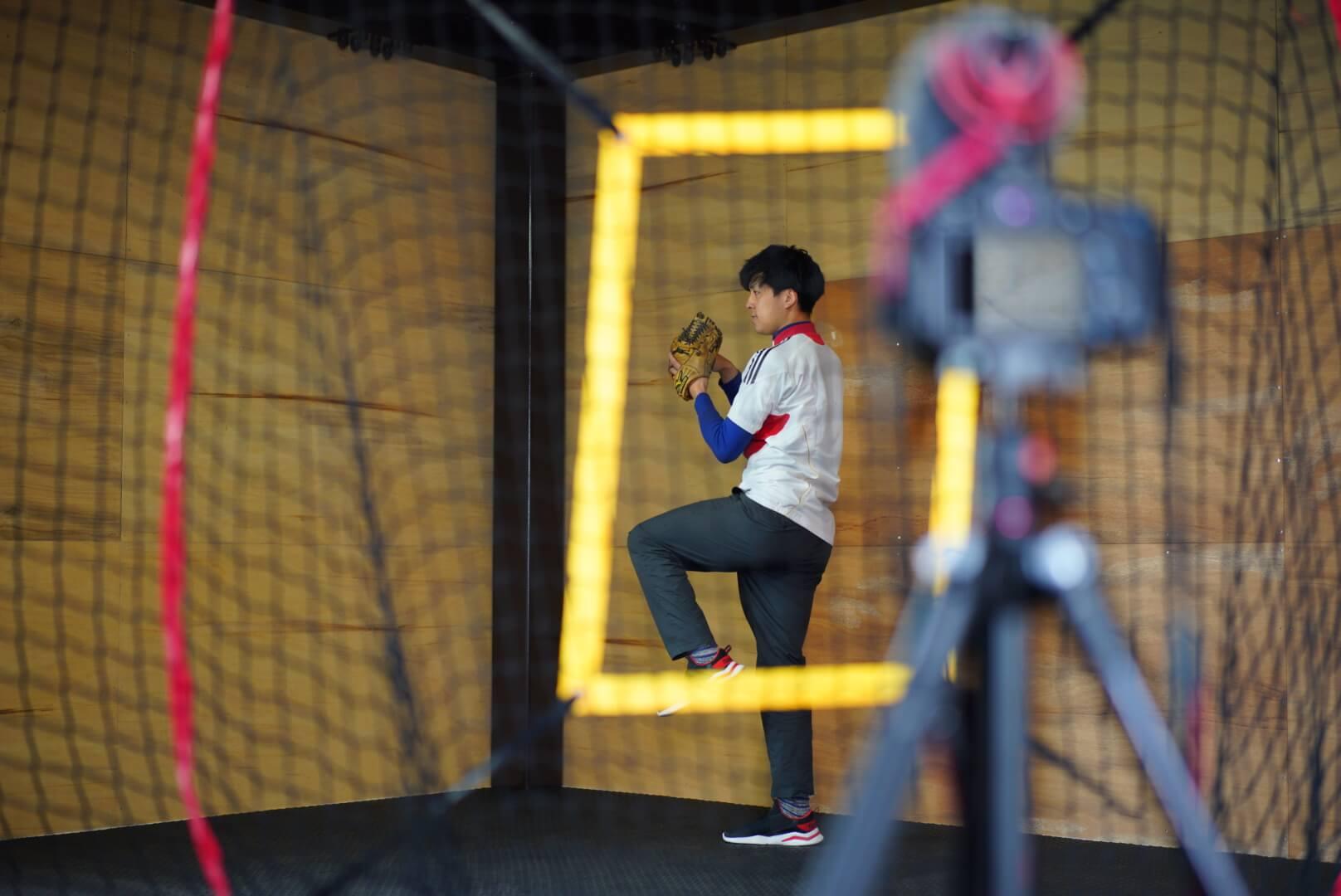 熊本カタラボ 野球肩のフォームチェック