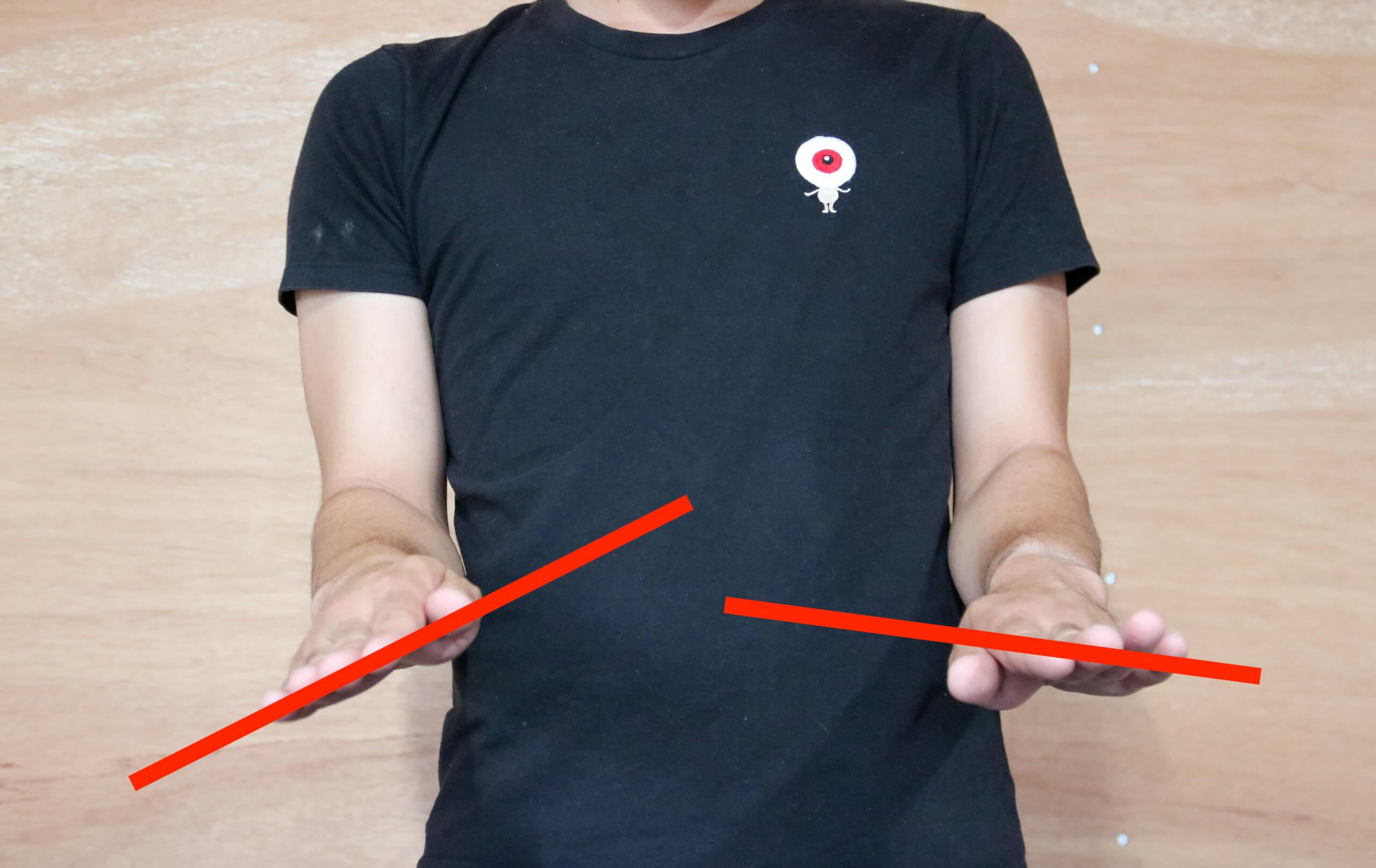 前腕回内の可動域チェック