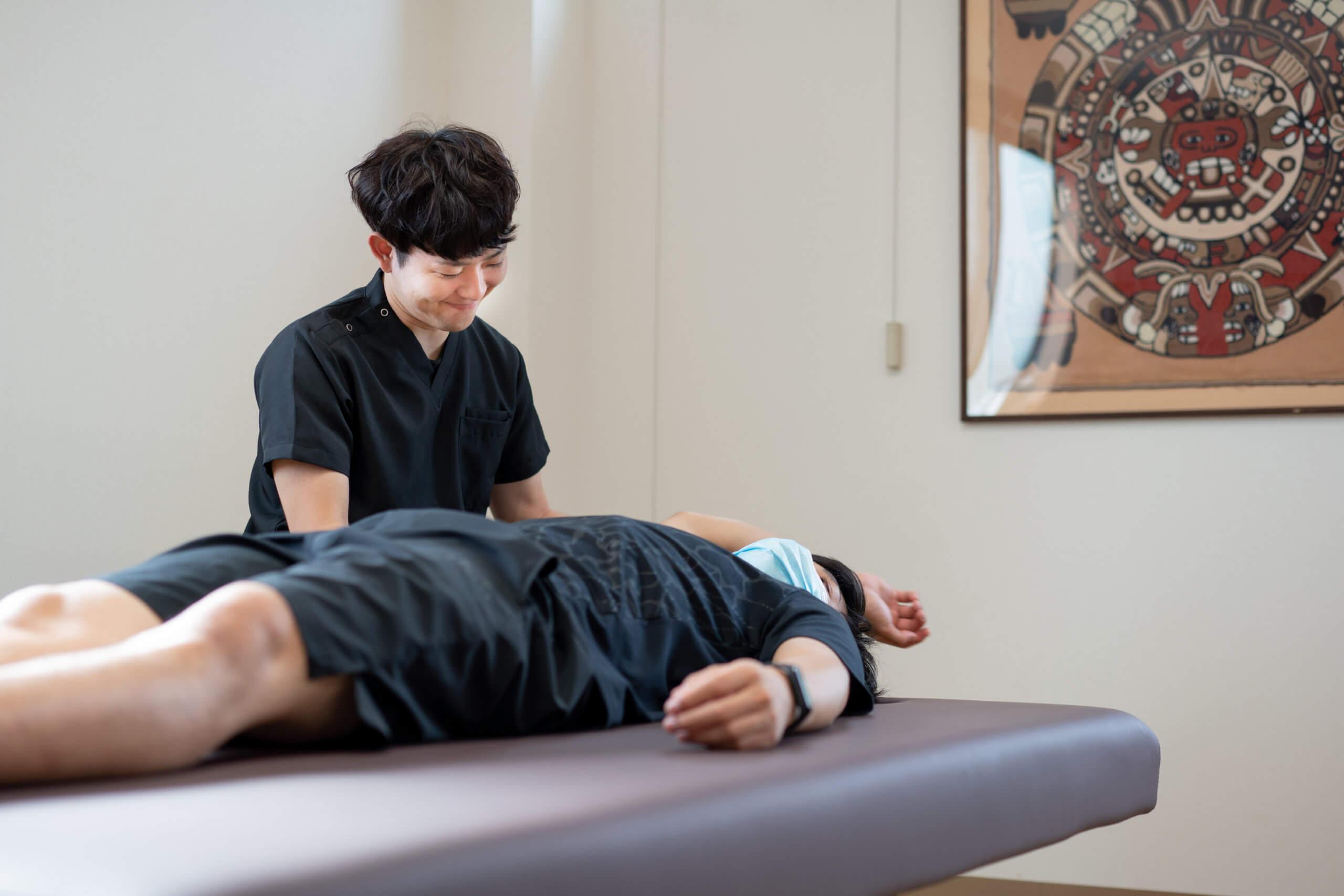 投球障害治療(野球肩・野球肘)中の風景